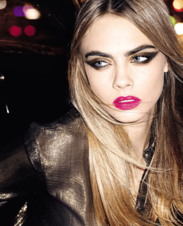 cara delevigne, designer beauty