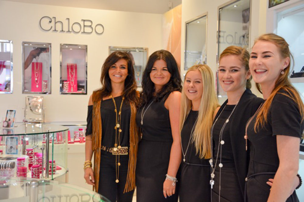 Chloe Moss of ChloBo with Mococo assistant manager Emma Stretch, Lucy Chilsom, Ella Jewsbury and Rachel Horgan 2