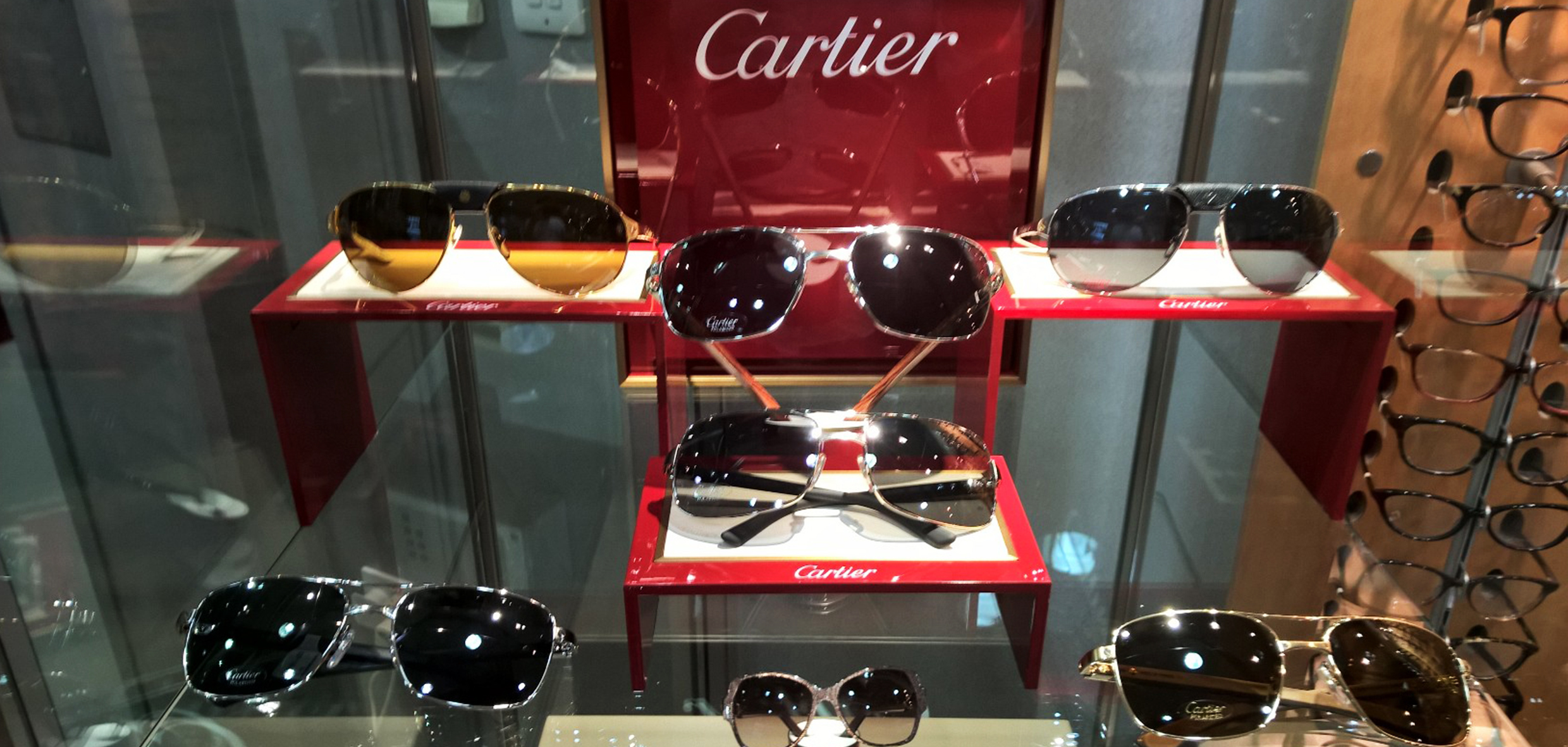779aae579464 Designer sunglasses  Silverberg Opticians showcases their Cartier range