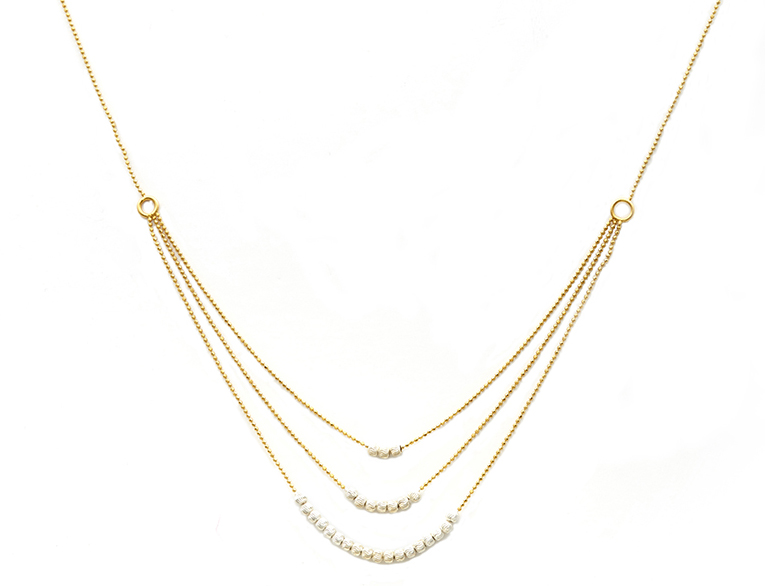 GfG Ellie 3 layer necklace in gold vibrance
