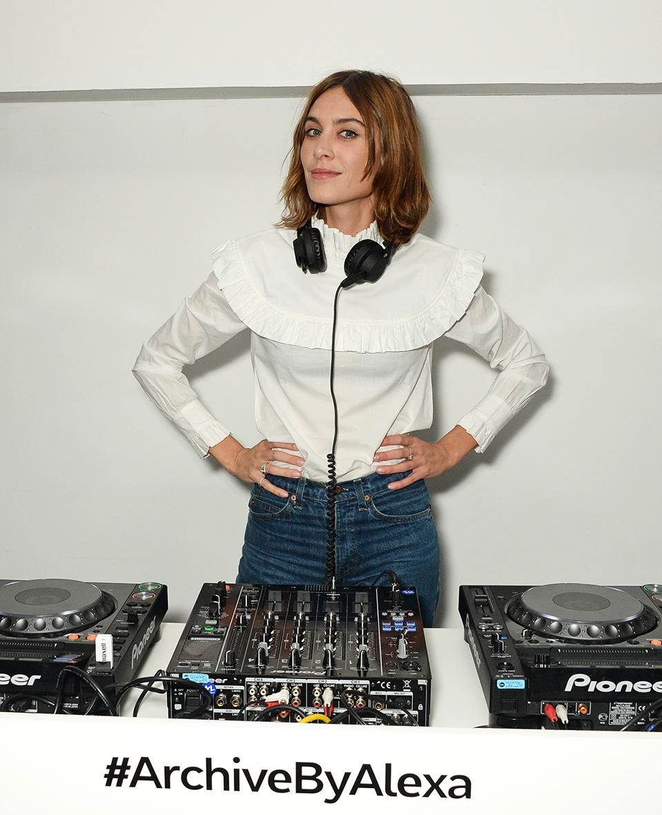 LONDON, ENGLAND - FEBRUARY 18: Alexa Chung attends a party hosted by Marks and Spencer, The British Fashion Council and Alexa Chung to kick off London Fashion Week and celebrate the forthcoming collaborative collection 'Archive By Alexa', bringing together a modern icon of British style and a long standing icon of the British High Street, at The Unit, Wardour Street, on February 18, 2016 in London, England. Photo Credit: Dave Benett