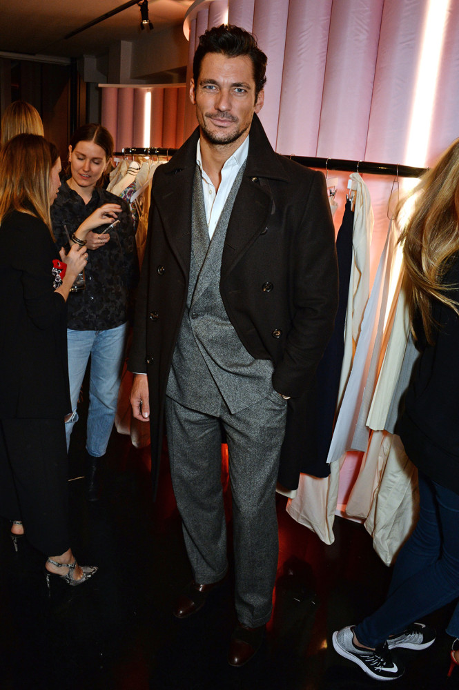 LONDON, ENGLAND - FEBRUARY 18: David Gandy attends a party hosted by Marks and Spencer, The British Fashion Council and Alexa Chung to kick off London Fashion Week and celebrate the forthcoming collaborative collection 'Archive By Alexa', bringing together a modern icon of British style and a long standing icon of the British High Street, at The Unit, Wardour Street, on February 18, 2016 in London, England. Photo Credit: Dave Benett