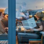 Food & Drink: Diners enjoy dinner with a window view at West 34