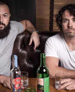 The Graffiti Spirits Founders are pictured with drinks