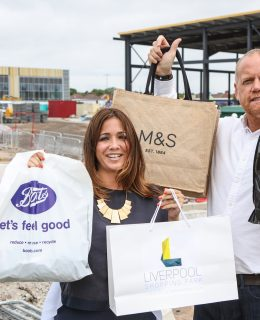 Shopping at the new Liverpool Shopping Park, an early image