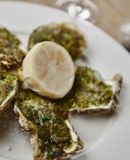 Oysters Rockerfeller for seafood week