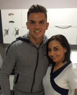 Celebrity Smiles. Sam Gowland at the Tracey Bell Clinic