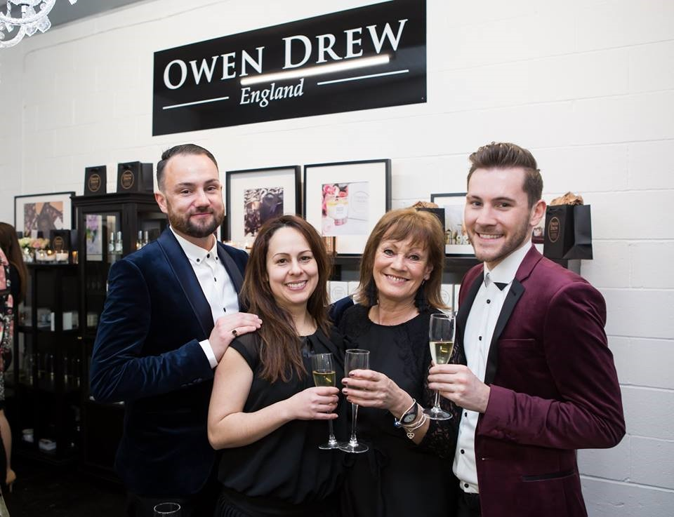 The team at Owen Drew luxury candles