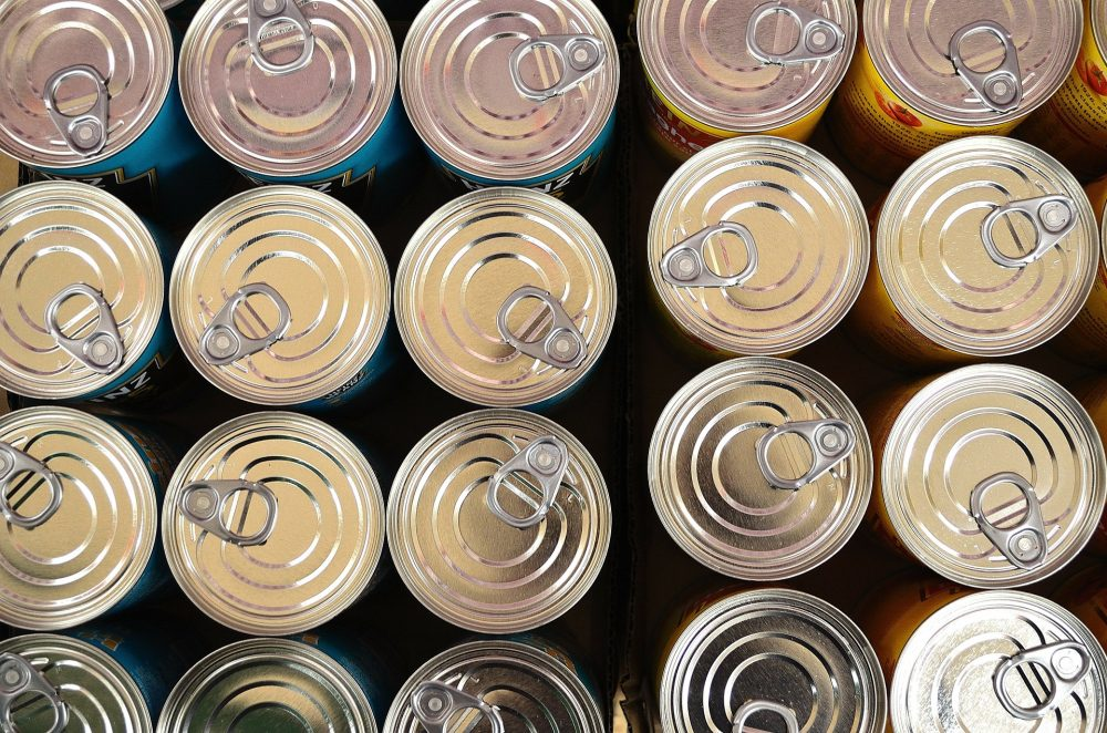 tin cans pictured from above