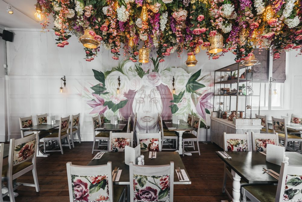 a dining area at The Florist, Liverpool
