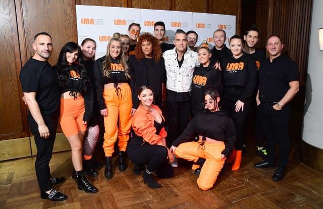 Robbie Williams and the LMA choir