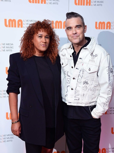 Robbie Williams and Stephanie Wallace Carr
