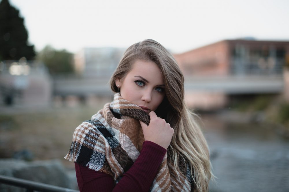 warm and fashionable, scarf