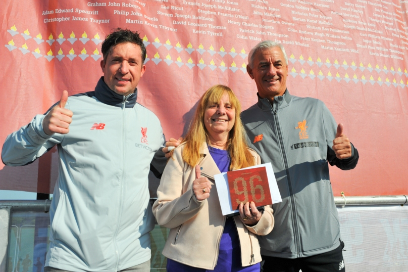 fun run 1.  Robbie Fowler, Margaret Aspinall & Ian Rush. Picture by Paul Francis Cooper