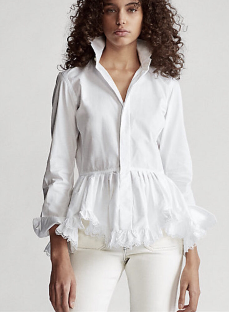 white shirt, Ralph Lauren