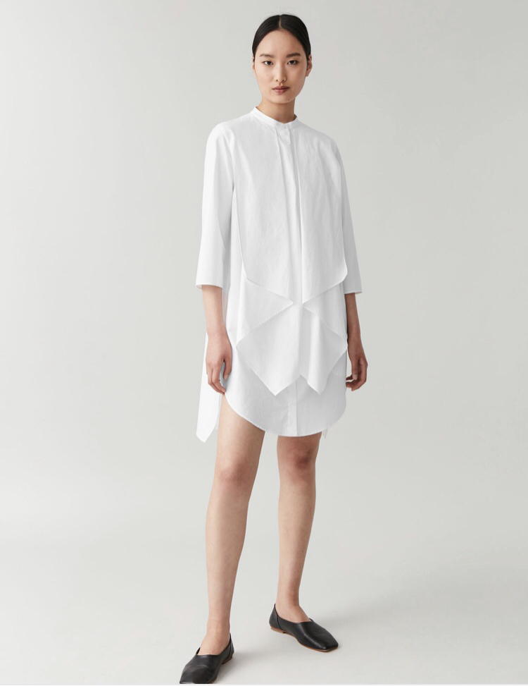 white shirt dress, COS