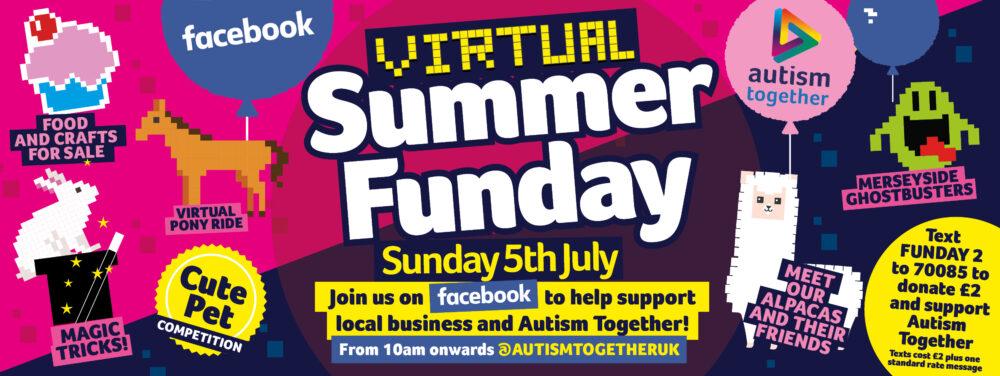 autism charity online summer fair promo artwork