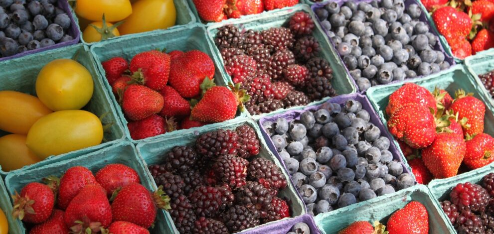 berries from a farmer's market