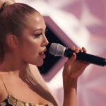 Melina Halpin performs on Little Mix The Search