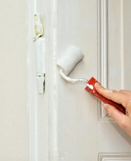 renovate your home, painting a door