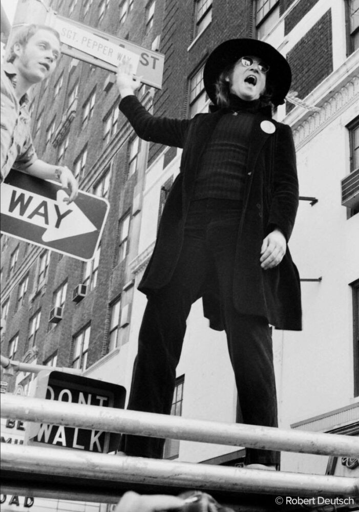 John Lennon photographed by Robert Deutsch