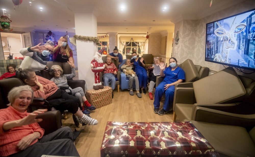 The Christmas light switch-on at a care-home