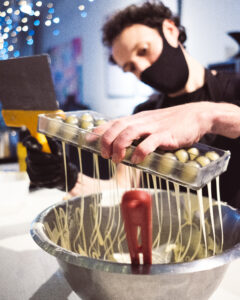 Chocolatier, Remy, creating Ropes & Twines' bon bons