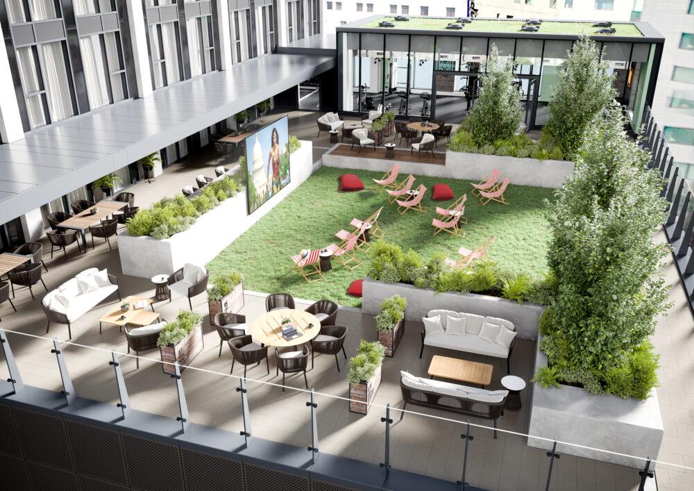 Moda Living communal garden