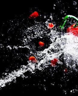 water splashes at high speed