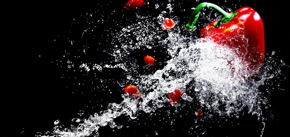 water splashes at high speed