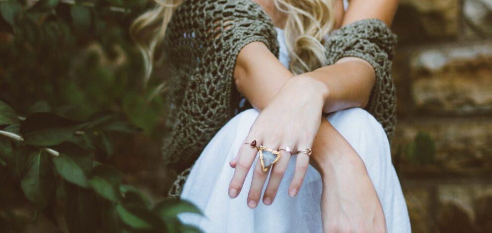 woman wearing jewellery