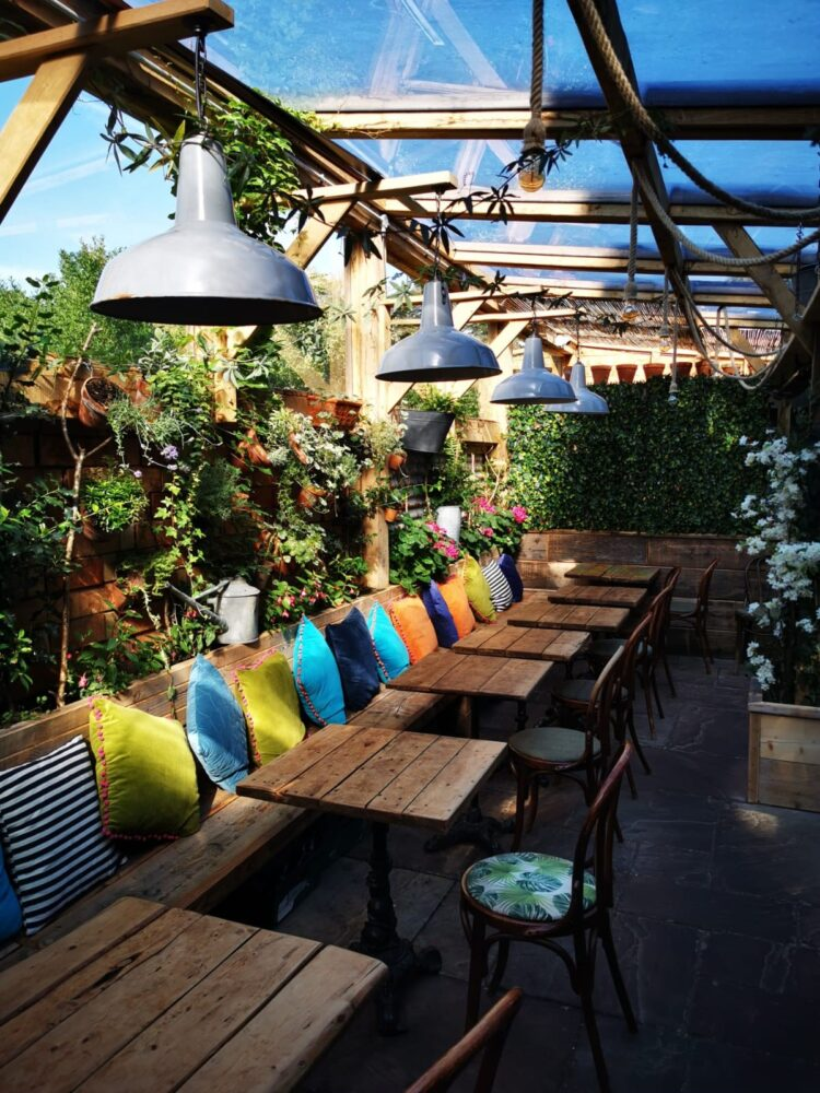 The Watering Can outdoor space