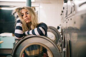 woman at a laundrette